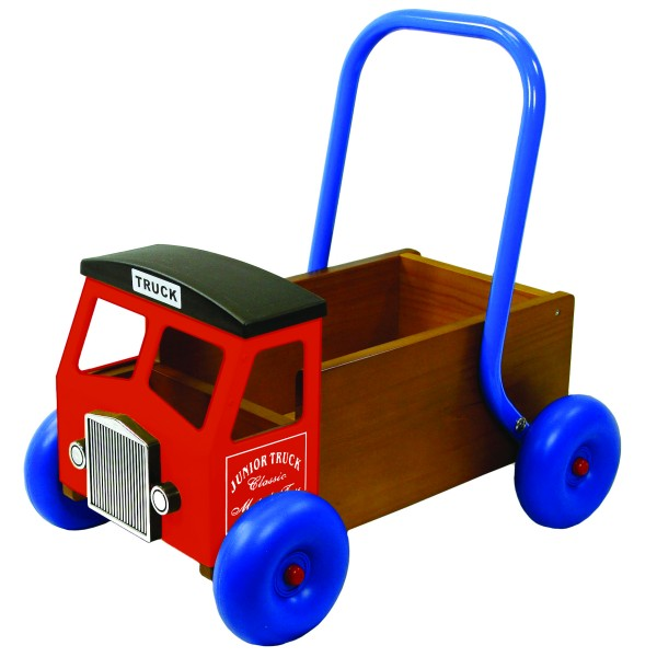 Great Gizmos Wooden Baby Walker Truck Red
