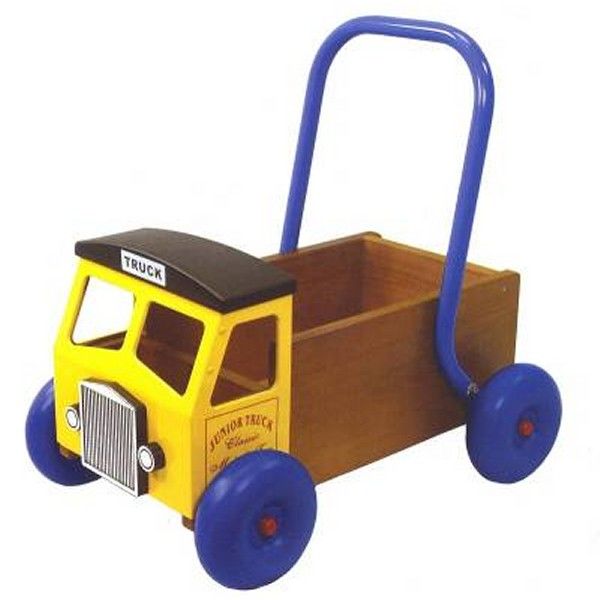 Great Gizmos Wooden Baby Walker Truck Yellow